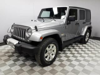 Used 2015 Jeep Wrangler Unlimited Unlimited Sahara - Local Alberta Trade In | No Accidents | Side Steps Installed | Factory Remote Starter | Leather Interior | Heated Seats | Climate Control with AC | Navigation | 18 Inch Wheels | Bluetooth | Low KMs | Well Looked After | All Po for sale in Edmonton, AB
