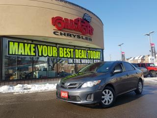 Used 2013 Toyota Corolla CE P-ROOF KEYLESS ENTRY H-TED SEATS for sale in Scarborough, ON