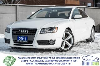 Used 2011 Audi A5 2.0L Premium Quattro 6-Speed Sunroof Leather for sale in Scarborough, ON