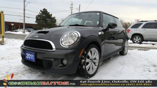 Used 2011 MINI Cooper S NO ACCIDENT|ALLOYS|LEATHER|SUNROOF|CERTIFIED for sale in Oakville, ON