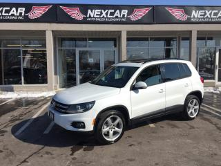 Used 2014 Volkswagen Tiguan 2.0 TSI COMFORTLINE AWD NAVI LEATHER PANO/ROOF 81K for sale in North York, ON