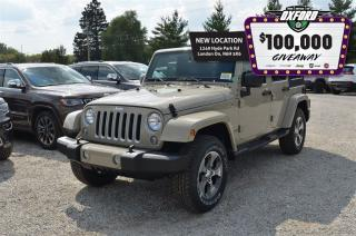 Used 2017 Jeep Wrangler Unlimited Sahara - GPS, Cruise, Bluetooth, Dual Top for sale in London, ON