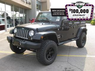 Used 2017 Jeep Wrangler Unlimited Sahara - Tire & Wheel Lift Kit, Dual Top for sale in London, ON