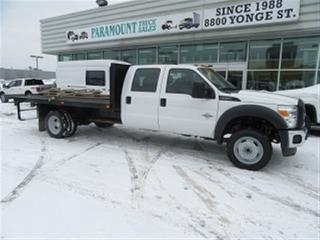 Used 2016 Ford F-550 Crew Cab 4x4 diesel with 12 ft flat deck for sale in Richmond Hill, ON