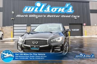 Used 2016 Infiniti Q50 3.0 TURBO AWD! LEATHER! NAVIGATION! SUNROOF! HEATED SEATS! CRUISE CONTROL! POWER PKG! 19