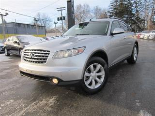 Used 2005 Infiniti FX35 LEATHER ~ SUNROOF ~ 165KMS ~ AUTO !!! for sale in Burlington, ON