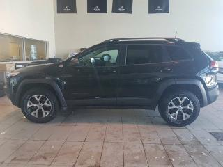 Used 2016 Jeep Cherokee Trailhawk - B/U Cam, Sunroof, Heated Leather + Remote Start! for sale in Red Deer, AB