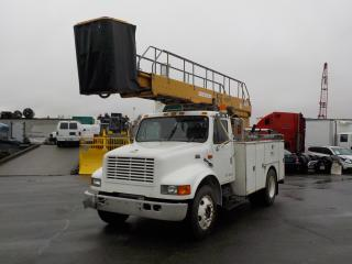 Used 1999 International 4700 DT466E Bucket Truck Diesel with Air Brakes for sale in Burnaby, BC