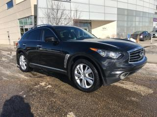 Used 2013 Infiniti FX37 ALL WHEEL DRIVE/NAV/BACK UP CAMERA/HEATED AND COOLED SEATS for sale in Edmonton, AB