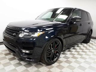 Used 2015 Land Rover Range Rover Sport Autobiography STEALTH - CPO 6yr/160000kms manufacturer warranty included until May 24, 2021! CPO rates starting at 2.9%! Local One Owner Trade In | No Accidents | 3M Protection Applied | Navigation | Surround Camera System | Parking Sensors | Revers for sale in Edmonton, AB