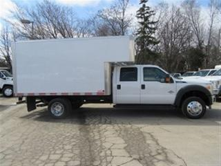 Used 2016 Ford F-550 Crew Cab 2wd diesel with 12 ft alum box for sale in Richmond Hill, ON