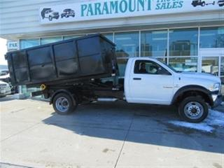 Used 2018 Dodge Ram 5500 Reg Cab 4x4 diesel with new stellar hook lift for sale in Richmond Hill, ON