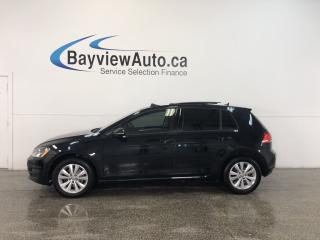 Used 2016 Volkswagen Golf COMFORTLINE- 5 SPEED|TINT|ROOF|NAV|BSA|REV CAM! for sale in Belleville, ON