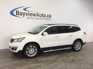 Used 2015 Chevrolet Traverse LT- AWD|REM STRT|PANOROOF|HTD STS|MY LINK|REV CAM! for sale in Belleville, ON