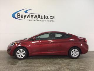 Used 2016 Hyundai Elantra - AUTO|1.8L|ECO MODE|A/C|PWR GROUP|LOW KM! for sale in Belleville, ON