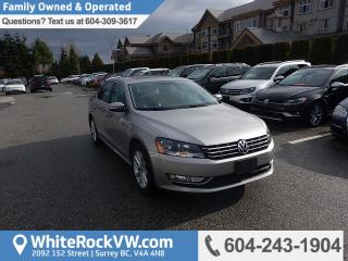 Used 2014 Volkswagen Passat 2.0 TDI Highline Navigation System, Memory Seat & Rear View Camera for sale in Surrey, BC