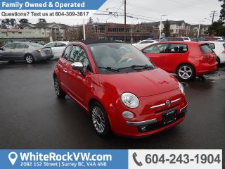 Used 2012 Fiat 500 C Lounge Convertible, Leather Upholstery &  Radio Data System for sale in Surrey, BC