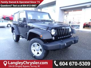New 2018 Jeep Wrangler JK Sport 4X4 for sale in Surrey, BC