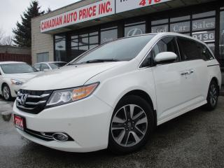 Used 2014 Honda Odyssey TOURING-NAV-LETHER-ROOF-CAMERA-DVD-8 PASSENGER for sale in Scarborough, ON