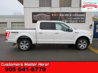 Used 2015 Ford F-150 Platinum  - BRAND NEW TIRES -  NAVIGATION for sale in St Catharines, ON