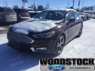 Used 2017 Ford Fusion - Low Mileage for sale in Woodstock, ON