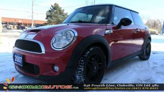 Used 2007 MINI Cooper S NO ACCIDENT|ALLOYS|SUNROOF|LEATHER|CERTIFIED for sale in Oakville, ON