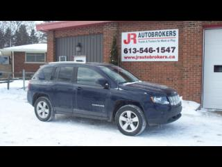Used 2014 Jeep Compass 4X4 w/ Leather, Sunroof and 125 Kms for sale in Elginburg, ON