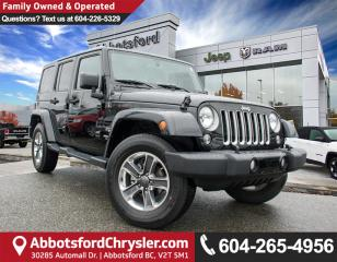 Used 2016 Jeep Wrangler Unlimited Sahara *ACCIDENT FREE* *LOCALLY DRIVEN* for sale in Abbotsford, BC
