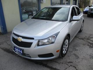 Used 2014 Chevrolet Cruze FUEL EFFICIENT LT-1 MODEL 5 PASSENGER 1.4L - TURBO.. 6-SPEED MANUAL.. BLUETOOTH.. BACK-UP CAMERA.. TOUCH SCREEN.. for sale in Bradford, ON