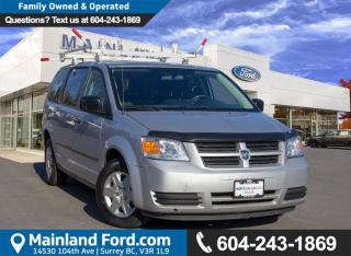 Used 2010 Dodge Grand Caravan C/V BC LOCAL, LOW KMS for sale in Surrey, BC