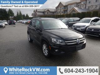 Used 2014 Volkswagen Tiguan Comfortline Heated Front Seats, Radio Data System &  Rear View Camera for sale in Surrey, BC