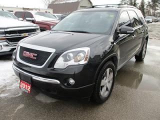 Used 2012 GMC Acadia LOADED SLT-1 MODEL 7 PASSENGER 3.6L - V6.. CAPTAINS.. 3RD ROW.. LEATHER.. HEATED SEATS.. DUAL SUNROOF.. BACK-UP CAMERA.. for sale in Bradford, ON