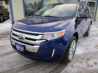 Used 2014 Ford Edge LOADED LIMITED EDITION 5 PASSENGER 3.5L - V6.. AWD.. LEATHER.. HEATED SEATS.. NAVIGATION SYSTEM.. SONY AUDIO.. BLUETOOTH.. BACK-UP CAMERA.. for sale in Bradford, ON