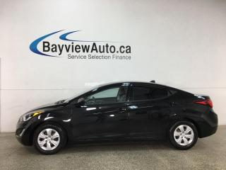 Used 2016 Hyundai Elantra L+ - AUTO! A/C! CRUISE! PWR GROUP! for sale in Belleville, ON