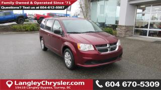 New 2018 Dodge Grand Caravan <b> 2nd Row STOW 'N GO,Uconnect Voice Command w/Bluetooth<b> for sale in Surrey, BC