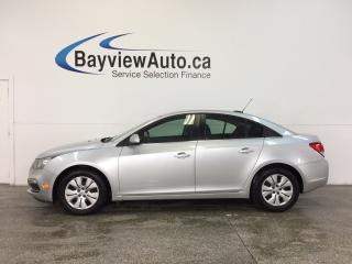 Used 2016 Chevrolet Cruze - TURBO|ALLOYS|A/C|MY LINK|REV CAM|CRUISE! for sale in Belleville, ON