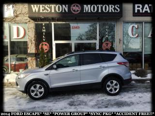 Used 2014 Ford Escape SE*POWER GROUP*SYNC PACKAGE*ACCIDENT FREE!! for sale in York, ON