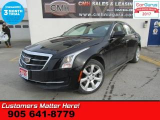 Used 2015 Cadillac ATS 2.0 Turbo  (NEW TIRES) CUE CAM LEATHER BOSE BT P/SEAT DUAL-CLIMATE for sale in St Catharines, ON