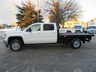 Used 2015 GMC Sierra 3500 HD Crew Cab 4x4 diesel SRW with 9 ft deck for sale in Richmond Hill, ON