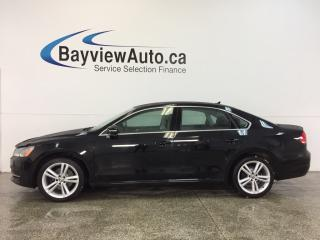 Used 2014 Volkswagen Passat COMFORTLINE- ALLOYS|ROOF|HTD LTHR|CRUISE|LOW KM! for sale in Belleville, ON