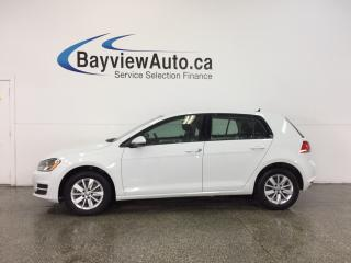 Used 2016 Volkswagen Golf TRENDLINE- 1.8L|ALLOYS|HTD STS|A/C|REV CAM|CRUISE! for sale in Belleville, ON