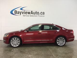 Used 2015 Volkswagen Passat COMFORTLINE- TDI|ROOF|HTD LTHR|REV CAM|BLUETOOTH! for sale in Belleville, ON