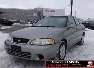 Used 2001 Nissan Sentra 4Dr Sedan GXE at |AS-IS SUPERSAVER| for sale in Scarborough, ON