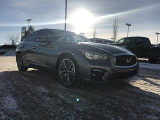 Used 2014 Infiniti Q50 ALL WHEEL DRIVE/NAVIGATION/BLIND SPOT/HEATED SEATS for sale in Edmonton, AB