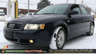 Used 2003 Audi A4 1.8T|LEATHER|SUNROOF|CRUISE CTRL|HEATD SEATS|AS IS for sale in Oakville, ON