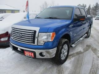 Used 2011 Ford F-150 'WORK READY' XLT EDITION 6 PASSENGER 3.5L - ECO-BOOST.. 4X4.. CREW.. SHORTY.. SYNC TECHNOLOGY.. BLUETOOTH.. POWER PEDALS.. KEYLESS ENTRY.. for sale in Bradford, ON