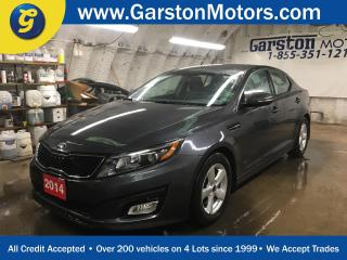 Used 2014 Kia Optima LX*HEATED FRONT SEATS*PHONE CONNECT*KEYLESS ENTRY*CLIMATE CONTROL*POWER DRIVER*CRUISE CONTROL* for sale in Cambridge, ON