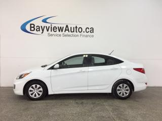 Used 2016 Hyundai Accent - 1.6L|AUTO|HTD STS|BLUETOOTH|CRUISE|ECO MODE! for sale in Belleville, ON