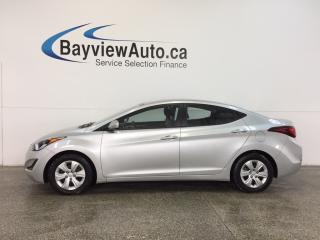 Used 2016 Hyundai Elantra L- 1.6L|AUTO|ECO MODE|A/C|LOW KM! for sale in Belleville, ON