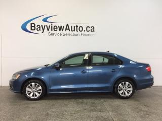 Used 2015 Volkswagen Jetta TRENDLINE- TDI|ALLOYS|PUSH STRT|HTD STS|REV CAM! for sale in Belleville, ON